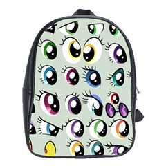 Eyes  Pattern School Bags(large)