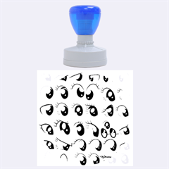 Eyes  Pattern Rubber Round Stamps (large)