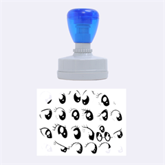 Eyes  Pattern Rubber Oval Stamps