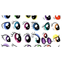 Eyes  Pattern You Are Invited 3d Greeting Card (8x4)