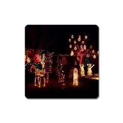 Holiday Lights Christmas Yard Decorations Square Magnet
