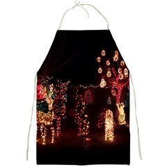 Holiday Lights Christmas Yard Decorations Full Print Aprons