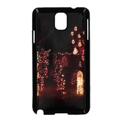 Holiday Lights Christmas Yard Decorations Samsung Galaxy Note 3 Neo Hardshell Case (black)