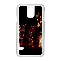 Holiday Lights Christmas Yard Decorations Samsung Galaxy S5 Case (white)