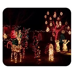 Holiday Lights Christmas Yard Decorations Double Sided Flano Blanket (small)
