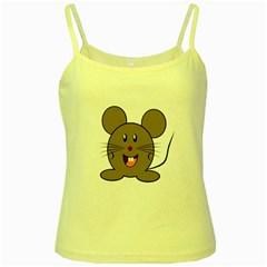 Raton Mouse Christmas Xmas Stuffed Animal Yellow Spaghetti Tank