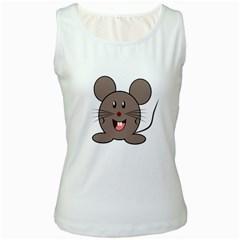 Raton Mouse Christmas Xmas Stuffed Animal Women s White Tank Top