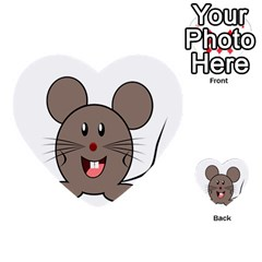 Raton Mouse Christmas Xmas Stuffed Animal Multi Purpose Cards (heart)