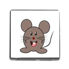 Raton Mouse Christmas Xmas Stuffed Animal Memory Card Reader (square)