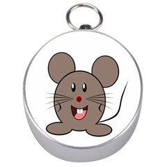 Raton Mouse Christmas Xmas Stuffed Animal Silver Compasses