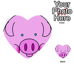 Pink Pig Christmas Xmas Stuffed Animal Multi Purpose Cards (heart)