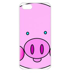 Pink Pig Christmas Xmas Stuffed Animal Apple Iphone 5 Seamless Case (white)