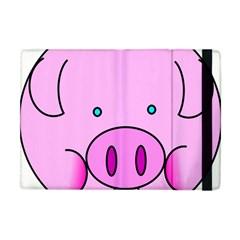 Pink Pig Christmas Xmas Stuffed Animal Apple Ipad Mini Flip Case