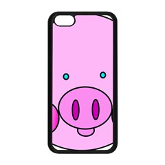 Pink Pig Christmas Xmas Stuffed Animal Apple Iphone 5c Seamless Case (black)