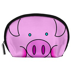 Pink Pig Christmas Xmas Stuffed Animal Accessory Pouches (large)