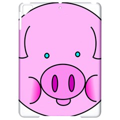 Pink Pig Christmas Xmas Stuffed Animal Apple iPad Pro 9.7   Hardshell Case