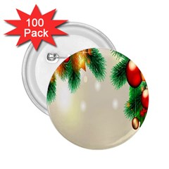 Ornament Christmast Pattern 2 25  Buttons (100 Pack)