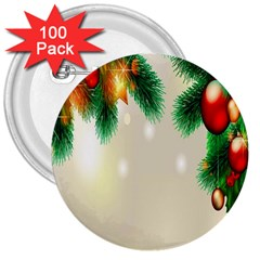 Ornament Christmast Pattern 3  Buttons (100 Pack)