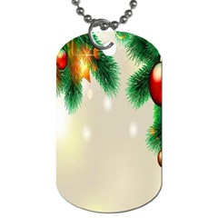 Ornament Christmast Pattern Dog Tag (two Sides)