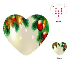 Ornament Christmast Pattern Playing Cards (heart)
