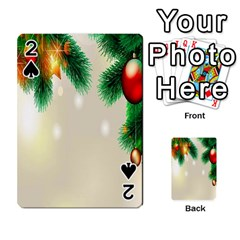 Ornament Christmast Pattern Playing Cards 54 Designs