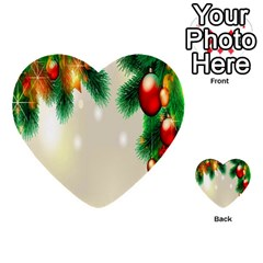 Ornament Christmast Pattern Multi Purpose Cards (heart)