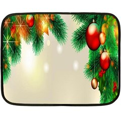 Ornament Christmast Pattern Double Sided Fleece Blanket (mini)