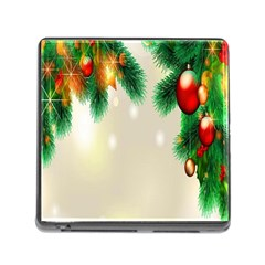 Ornament Christmast Pattern Memory Card Reader (square)