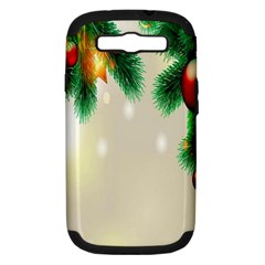 Ornament Christmast Pattern Samsung Galaxy S Iii Hardshell Case (pc+silicone)