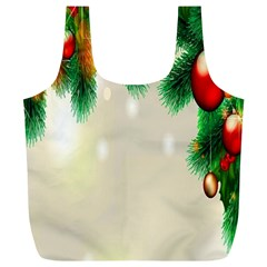 Ornament Christmast Pattern Full Print Recycle Bags (l)