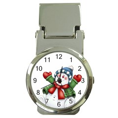 Snowman With Scarf Money Clip Watches