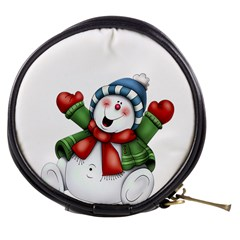 Snowman With Scarf Mini Makeup Bags