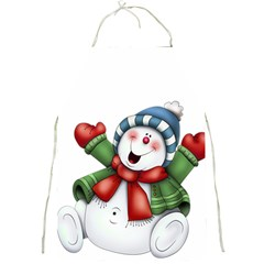 Snowman With Scarf Full Print Aprons
