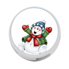 Snowman With Scarf 4 Port Usb Hub (two Sides)