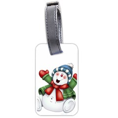 Snowman With Scarf Luggage Tags (one Side)