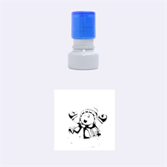 Snowman With Scarf Rubber Round Stamps (small)