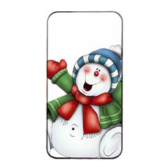 Snowman With Scarf Apple Iphone 4/4s Seamless Case (black)