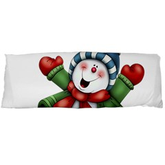 Snowman With Scarf Body Pillow Case Dakimakura (two Sides)