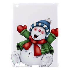 Snowman With Scarf Apple Ipad 3/4 Hardshell Case (compatible With Smart Cover)