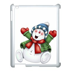 Snowman With Scarf Apple Ipad 3/4 Case (white)