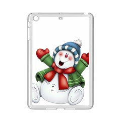 Snowman With Scarf Ipad Mini 2 Enamel Coated Cases