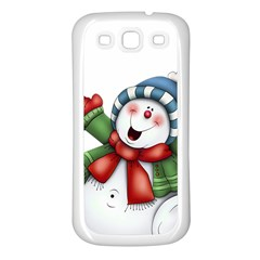Snowman With Scarf Samsung Galaxy S3 Back Case (white)
