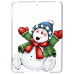 Snowman With Scarf Apple Ipad Pro 9 7   Hardshell Case
