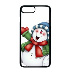 Snowman With Scarf Apple Iphone 7 Plus Seamless Case (black)