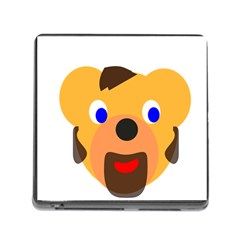 Solidarity Clipart Bear Head Teddy Bear Xmas Christmas Stuffed Animal Memory Card Reader (square)