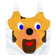 Solidarity Clipart Bear Head Teddy Bear Xmas Christmas Stuffed Animal Full Print Recycle Bags (l)
