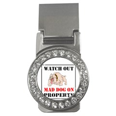 Watch Out Mad Dog On Property Money Clips (cz)