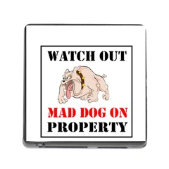 Watch Out Mad Dog On Property Memory Card Reader (square)