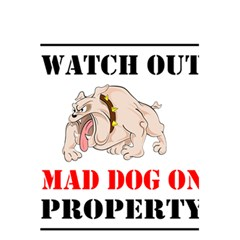 Watch Out Mad Dog On Property 5 5  X 8 5  Notebooks