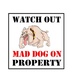 Watch Out Mad Dog On Property Magic Photo Cubes